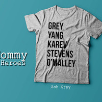 Greys Anatomy T-Shirt - Grey Yang Karev Stevens O'Malley - Thursdays We Watch Grey's A Beautiful Day To Save Lives Tshirt , Adult t shirt