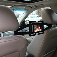 Entertainmount (Black) - Universal Smartphone Car Mount with Unique Rotation Feature that is Perfect for Back Seat Viewing