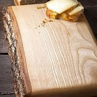 waney ash board by naturally created   notonthehighstreet.com