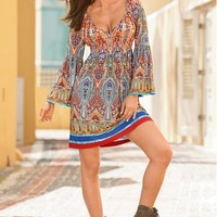 Boston Proper Vibrant paisley dress