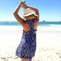 Seaside Diamond Dress In Navy