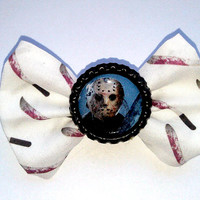 Small Jason Voorhees Machete Hair Bow- Friday the 13th Geekery