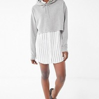 UO Striped Button-Down Shirt Dress | Urban Outfitters