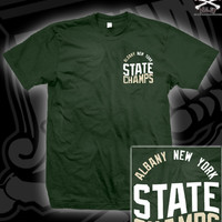 STCH ALBANY ARCH TEE ON FOREST GREEN