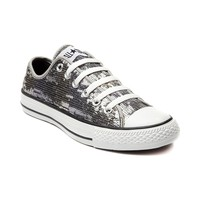 Converse All Star Lo Sequins Sneaker, Black Silver Gold, at Journeys Shoes
