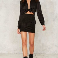 After Party by Nasty Gal Shake It Tassel Skirt