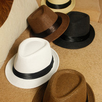 England Style Summer Men Couple Beach Hats [6414513857]
