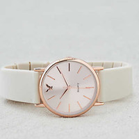 AEO Cream + Rosegold Rubber Watch , Cream