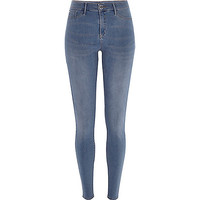 River Island Womens Smoky mid wash Molly jeggings