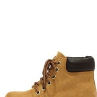 Soda Equity Tan Suede Work Boots