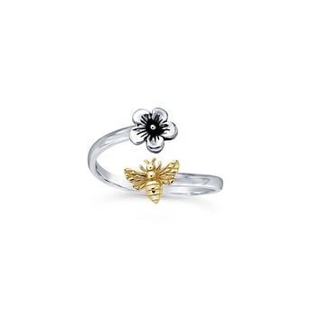 Bee and Flower Ring