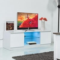 Modern LED TV  Stand With Shelf Cabinet