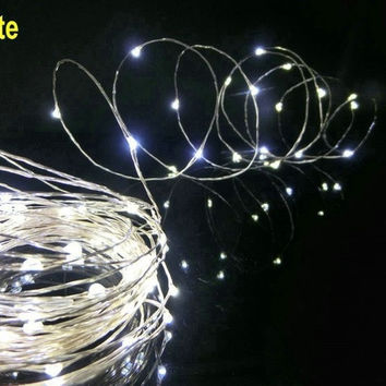 5m 50leds Warm White String Lights Decorative Light Strings For Christmas Holiday LED String Fairy Lights garden = 1933083780