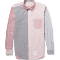 Thom Browne - Contrast-Panel Seersucker Shirt | MR PORTER