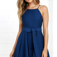 C/MEO Two Can Win Navy Blue Dress