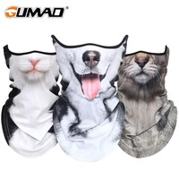 Winter 3D Fleece Cat Dog Bandana Half Face Mask Warmer Neck Gaiter Face Shield Bike Ski Snowboard Cycling Sport Scarf Men Women