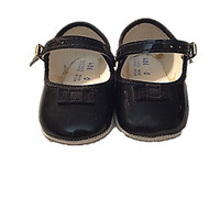 Vintage Baby Shoes, 1960's Black Baby Girl Shoes, Vintage Mary Jane Baby Shoes, Black Mary Jane Baby Shoes, Size 0