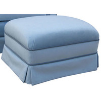 Angel Song 221021177 Classic Velvet Blue Adult Club Gliding Ottoman