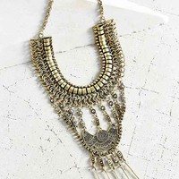 Golden Chime Statement Necklace- Gold One