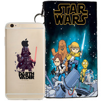 Star Wars (Darth Vader) Jelly Clear Case For Apple Iphone 6/6s + Pouch
