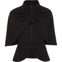 Cape Jacket With Bow Belt | Moda Operandi