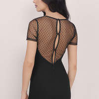 Dotted Lines Bodycon Dress $42
