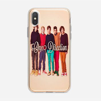 1D One Direction Logo Pink Flower iPhone X Case