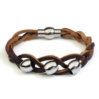 Great Deal Gift Hot Sale New Arrival Shiny Awesome Stylish Men Leather Accessory Ring Cool Bracelet [6526748675]