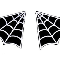 Spider Web Patch Design 2-Pack Iron On Applique