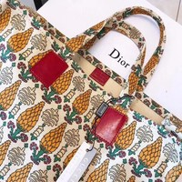 """GUCCI"" Latest Linen Pineapple Shopping Bag"