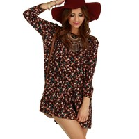 Sale-plum Forever Floral Tunic