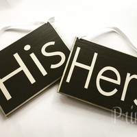 8x6 HIS HERS Wood Signs (Set of 2)