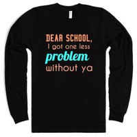 Dear School-Unisex Black T-Shirt