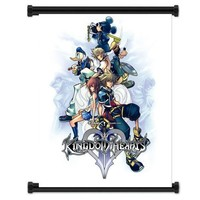 """Kingdom Hearts Game Fabric Wall Scroll Poster """"32 X 42"""" Inches"""