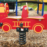 Planet Playgrounds Free Standing Fire Truck Spring Rider (Double)