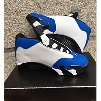 Nike Jordan Kids Air Jordan 14 Retro Royal Blue/White Kids Sneaker Shoe US 11C - 3Y