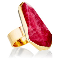 Pink Fire Agate Aurelie Ring, Stone & Novelty Rings