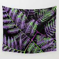 Purple & Green Bracken Wall Tapestry by Moonshine Paradise