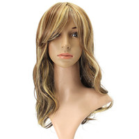 Women Long Curly Wavy Wig High-temperature Fiber Hair Cosplay Party Wigs