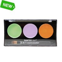 Colourfix 3 Colors in 1 Corrective Concealer Palette With Minerals /Spot & Scar Eraser Vitamin E Enriched Formula by Santee