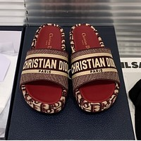 Dior embroidered slippers-2
