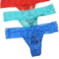 """Bella"" All Over Lace Thong - Nine Colors Available!"