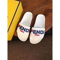 Fendi Women Men the summer FF Letter slippers-1