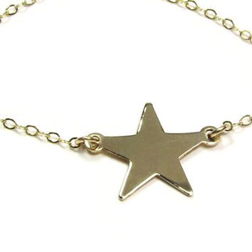 14KT Gold Star Necklace, Emma Watson Perks of being a Wallflower Movie