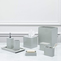 Lacca Grey Bath Accessories by Kassatex