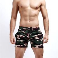 Camouflage Mid Thigh Workout  Shorts