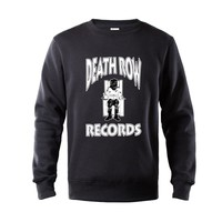 Death Row Records Dr Dre Tupac Men Women Unisex Top Sweatshirt Men New Fashion Streetwear Cotton Fleece Hoodie Sweatshirt