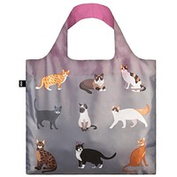 Loqi Water Resistant Reusable Bag - CATS & DOGS Meow Bag