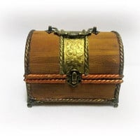 Antique Jewelry Chest Gift for Her Vintage Treasure Box Pirate Chest Treasure Chest Xmas Gift Birthday Gift Personalized Gift Keepsake Chest