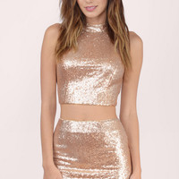 Last Kiss Sequin Mini Skirt